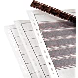 Pixel Peeper Lot de 25 pochettes en plastique pour films négatifs 35 mm Sans acide et sans danger pour l'archivage Pages…