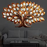 Urban Tree'Z Decorative Classic Iron Wall Hanging Big Urban Theme Gold Tree LED for Home Living Room