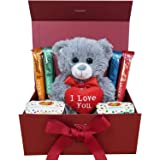 Ultimate Gift Hamper With Teddy Bear Chocolates Scented Candles Great Gift Idea for Valentine's Day Birthday Anniversary (Lov
