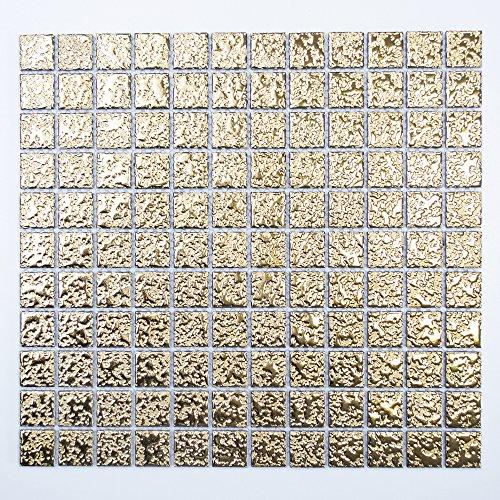 kfliese Bad WC Keramik Quadrat gold gehämmert 6mm Neu #K138 ()