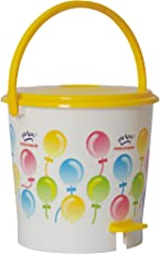 Princeware 4432 Printed Round Small Assembled Light Garbage Bucket (12 Litres) (Assorted Colors and Prints)