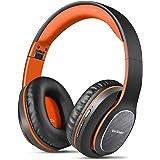 Bluetooth-hörlurar över örat, WorWeller 80 timmars speltid hörlurar med Hi-Fi-stereoheadset djup bas, trådlösa hörlurar med m