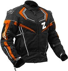 Zeus Airdrift SP-X All Season Biker Jacket Orange M (38 CMS)