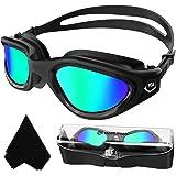 Winline Gafas de natación polarizadas,protección Anti-vaho protección UV sin filtraciones visión Clara fáciles de Ajustar con