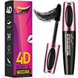Sharmiz 4D Silk Fiber Lash Mascara, Longer & Thicker Lashes (Waterproof), Clump-Free, Long-Lasting, All Day Luxurious Looking Lashes, Black
