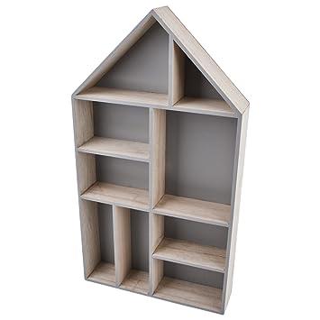 Dekoartikel modern  Amazon.de: Haus Setzkasten Deko Modern Design Holz natur (55x30x7cm)