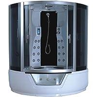 Baignoire Douche balnéo massante MONTECARLO 150x150 cm angle haute jacuzzi spa hydromassage radio