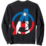 Marvel Avengers Captain America Costume Fill Logo Sweatshirt