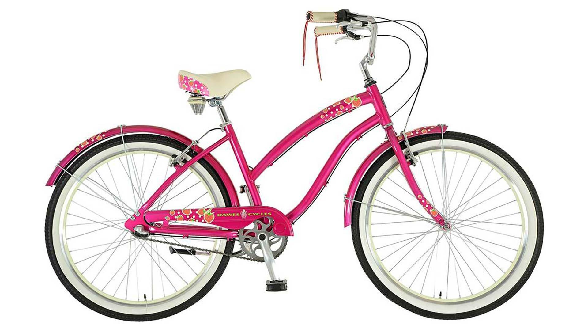 "715xTuHo5CL - Dawes Strawberry Ladies British Cruiser Pink 17"" bike"