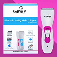 Babyily Rechargeable Baby Hair Clipper/Baby Hair Trimmer and Cutter (Pink)