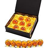 Killow 7 Piezas Bolas Dragon Ball, Bolas de Dragón 1 a 7 Estrellas con Caja de Regalo, Coleccionables para Dragonball Z Regal