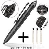 YKEZHU Multifunktional Tactical Kugelschreiber mit LED Lampe Glasbrecher zur Selbstverteidigung