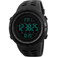 Orologio digitale da Polso - uomo sportivo militare impermeabile cronografo orologi conto alla rovescia, luci LED gomma…