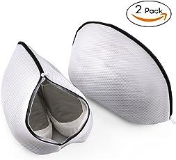 6 Stück Wäschenetz für Waschmaschine, Unimi Wäschesack Baumwolle mit Formgedächtnis Wäschebeutel aus Netzstoff Set mit Reißverschluss für empfindliche Wäsche Waschmaschine, Trockner, BHs