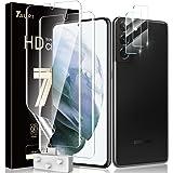TAURI 2 Pack Flexibele TPU Film Screen Protector en 2 Pack Gehard Glas Camera Lens Protector voor Samsung Galaxy S21 plus 5G