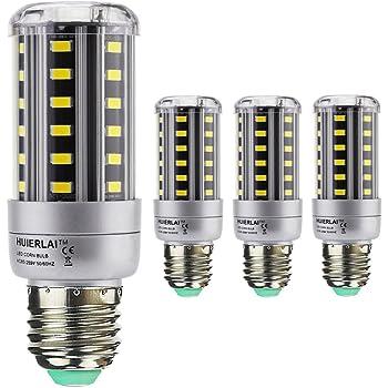 4x E27 9W Bombilla LED Lámpara Luz de Maíz La luz blanca 6000K Ángulo de Haz 360° 1080 Lumen Sustituye la lámpara Halógena de 60-80W aplica a Iluminación ...