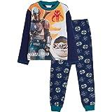 Star Wars Boys Mandalorian Pyjamas Kids Baby Yoda The Child Full Length Pjs Set Nightwear Tee + Lounge Pants