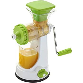 Shraddha Manual Fruit and Vegetable Juicer with Steel Handle (Green)