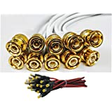 Super Combo Pack of 10 Pcs BNC Connector with Copper Wire 18 cm and 10 Pcs DC Power Pin Male Cables with Copper Wire Connecto