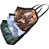 COTCO – Daily Guard. Camouflage Series 3-layer Face Mask for men and Women. Re-usable. washable dust protective for…