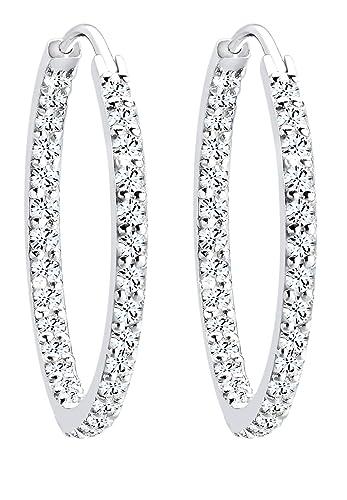 Boucle d'oreille swarovski diamant