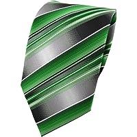 TigerTie cravatta - verde smeraldo argento antracite grigio striato