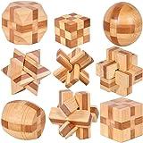 Holzsammlung Set da 9 Rompicapo in Legno Gioco di Cube 3D Puzzle - Perfetto Regalo di Natale per i Tuoi Famiglia (Taglia…