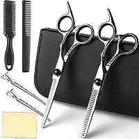 Fityou Haarschere Set, Scharfe Friseurscheren, Profi Effilierschere Premium Haarschneideschere Licht Einseitiger…