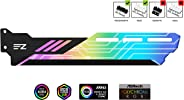 EZDIY-FAB RGB GPU Holder 5V 3-Pin Colorful RGB Graphics Card GPU Support Video Card Holder Bracket, Video Card Sag Holder/Hol