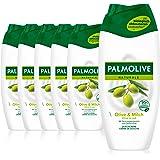 Palmolive Duschgel Naturals Olive & mjölk 6 x 250 ml – krämdusch med extrakt av oliv & mjölk, lämplig för alla hudtyper