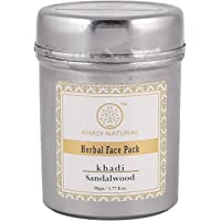 KHADI NATURAL Sandalwood Herbal Face Pack, 50g