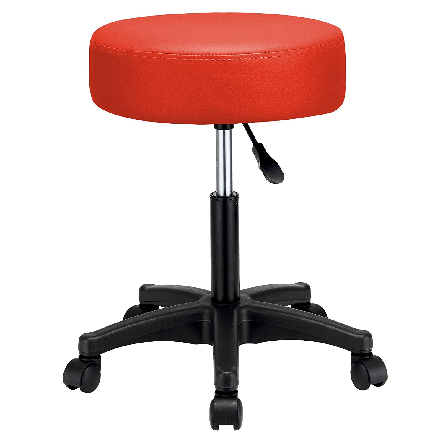 Deuba Swivel Chair Work Stool Beauty Roller Stool Extra Thick