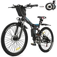 Vivi Ebike Mountainbike Elektrofahrrad, 26 Zoll Ebike Klapprad 350W E-Bike Herren und Damen Mit Herausnehmbarer 8Ah…