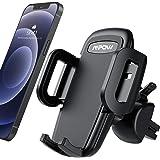 Mpow Supporto Smartphone per Bocchetta Dell'aria Auto con Morsetto Regolabile a 3 livelli, Rotazione di 360 Gradi, Robusto Po
