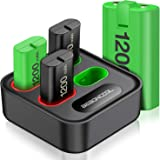 BEBONCOOL Charger for Xbox One Controller Battery Pack, with 4 x 1200mAh Rechargeable Xbox One Battery Charger Charging Kit f