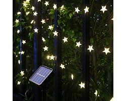 Solar String Lights, 55Ft/17M 100 LED Solar Star String Lights Warm White Solar Powered Fairy Lights Outdoor 8 Modes Waterpro
