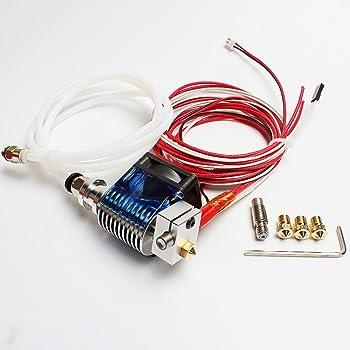 Dikavs - Hotend completamente in metallo V6, 1,75mm, estrusore bowden, stampante Prusa i3Reprap 3D kit Deluxe
