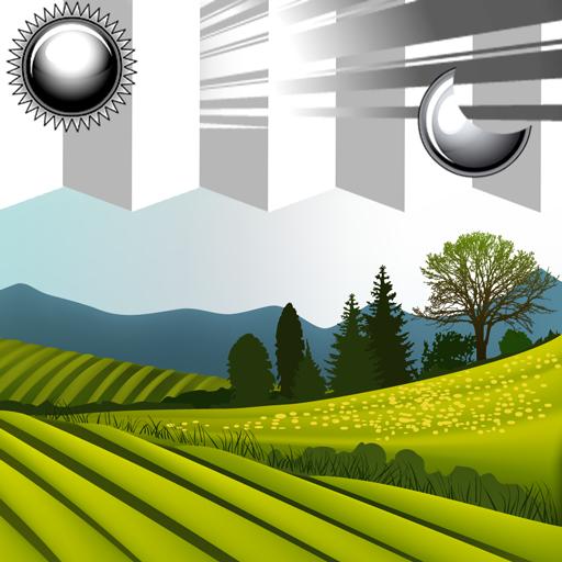 Uhr Palme (Uhr Wetter Widget Landschaft)