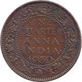 K One Quarter Anna 1939 George VI Coin (Brown)