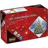 Idena 8325066 - LED Lichterkette mit 200 LED in warm weiß, mit 8 Stunden Timer Funktion, Innen und Außenbereich, für…