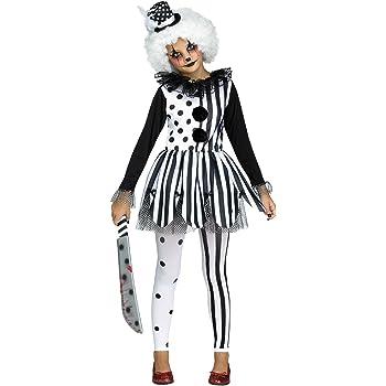 Teens Harlequin Honey Wig Girls Halloween Fancy Dress Jester Circus Costume