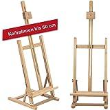 Tischstaffelei T60 aus Buchenholz FSC, Keilrahmen bis 60cm im Hochformat, Sitzstaffelei Höhe und Neigung verstellbar