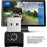 Onlyesh Zwift ANT+ USB-Transmitterund-Empfänger, USB-Stickund-Adapter für ANT+, tragbarer USB-Stick, für Garmin Forerunner 310XT und 405 EINWEG