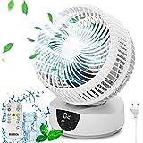 Ventilator Standventilator Leise Turbo-Ventilator, Tisch Ventilator, Ventilator Klimaanlage Ventilator Timer 9H 25dB 28W…