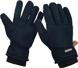 HIVER Unisex Waterproof Teslon Winter Gloves for Minus Degrees (Medium, Blue)
