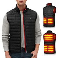 Heated Vest for Men, Heated Jacket with USB Electric Thermal Body Warmer, 3 Heating Setting with Power Bank, Heating…