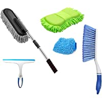 Winberg ® Car Cleaning Combo Pack Microfiber Duster Carpet Brush Washing Scurb Glass Wiper Microfibre Gloves Full…