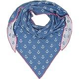 Cashmere Dreams - Sciarpa triangolare con motivo a cuore, in cotone, di alta qualità, con stampa ad ancora, per donne, ragazz