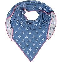 Zwillingsherz Dreieckstuch mit Baumwolle - Hochwertiger Schal mit Anker Print für Damen Jungen Mädchen - XXL Hals-Tuch…