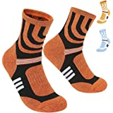 3 Pairs Men Women Hiking Walking Socks 4-8 UK Size,No Blister Terry Cushion,Breathable,Warm,Moisture Wicking,Arch Support,for